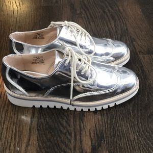 Silver Zara mirrored shoes size 37